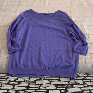 Vince Camuto Dotted Purple Sweater